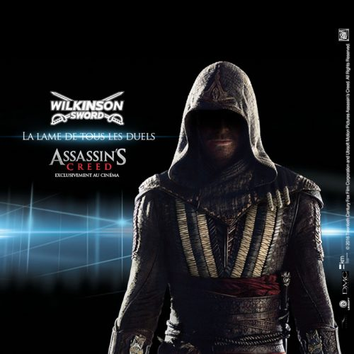 Agence communication Rangoon - promotion des ventes shopper marketing jeu concours en ligne licencing Assassins Creed Wilkinson