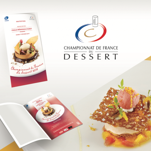 Agence communication Rangoon - identite graphique evenementiel Cedus Culture Sucre championnat France dessert