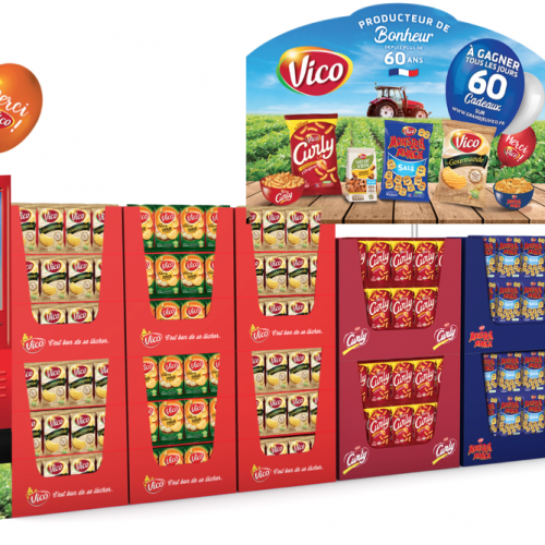 Agence communication Rangoon - promotion des ventes shopper marketing theatralisation anniversaire 60 ans VIco Intersnack