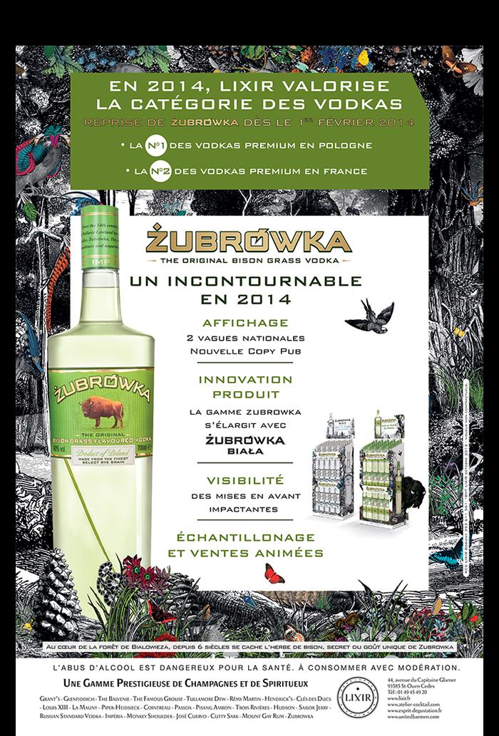 Agence communication Rangoon - promotion des ventes ventes animations shopper lancement Zubrowka Original Biala