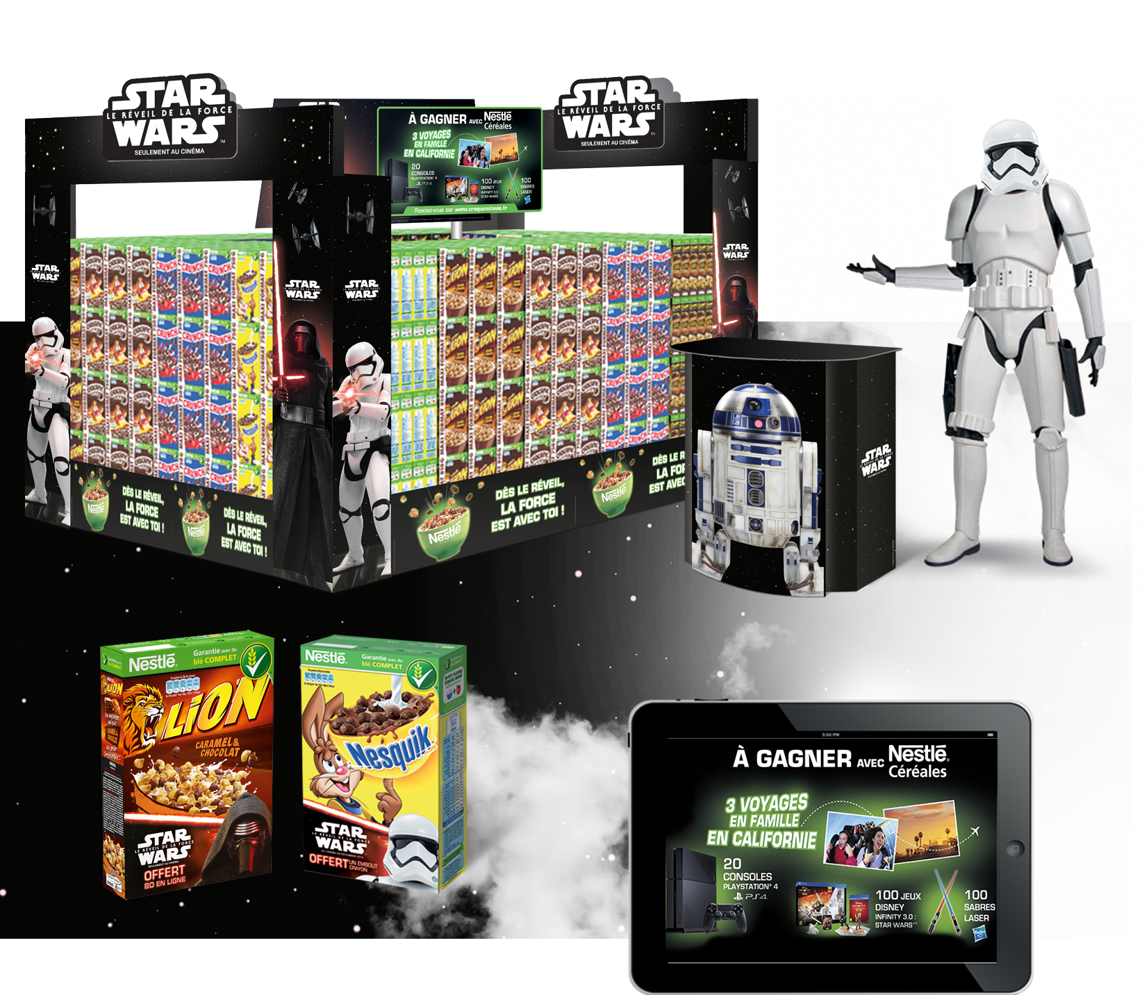 Agence communication Rangoon - promotion licencing Disney Star Wars Nestle Cereales