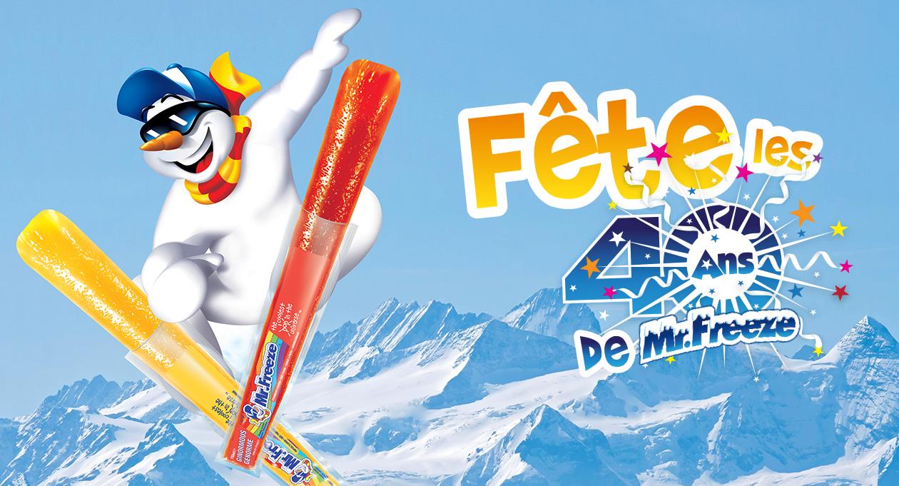 Agence communication Rangoon - promotion shopper fidelisation anniversaire 40 ans Mr Freeze