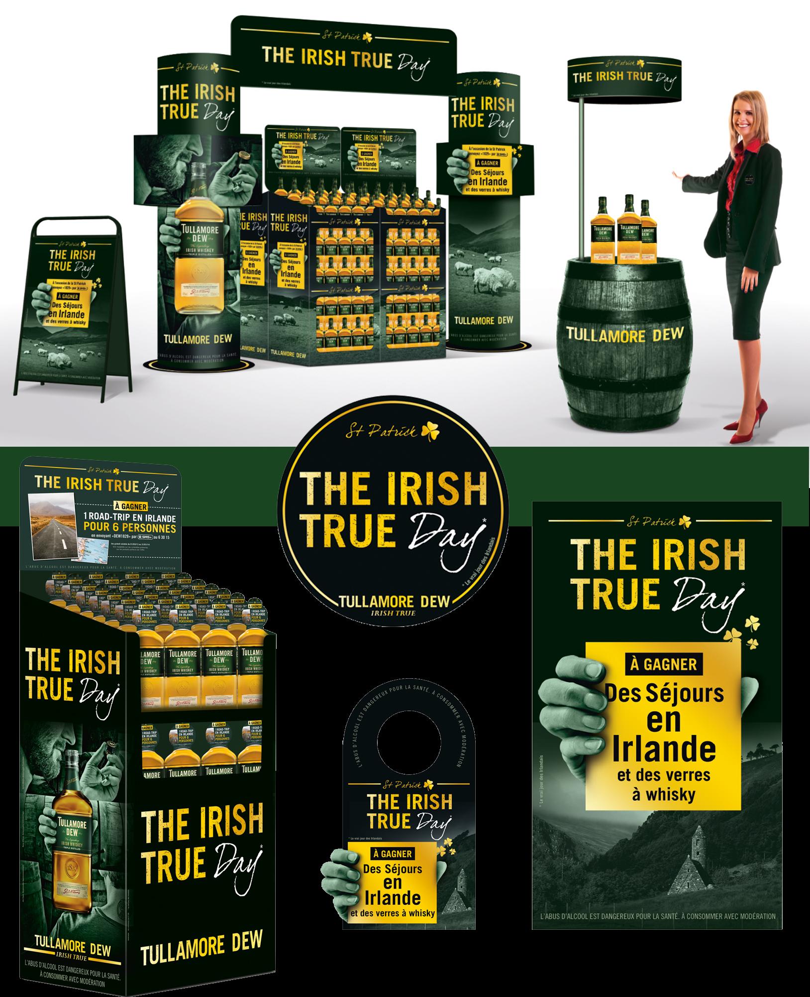 Agence communication Rangoon - promotion des ventes ventes animations shopper Tullamore Dew St Patrick