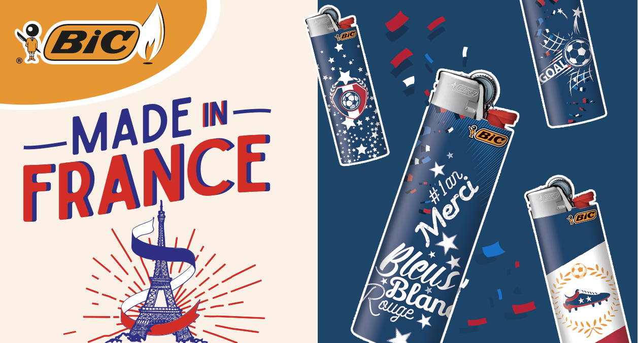 Agence communication Rangoon - identité visuelle animation réseau buraliste collection design serie limitée Briquet Bic Made In France