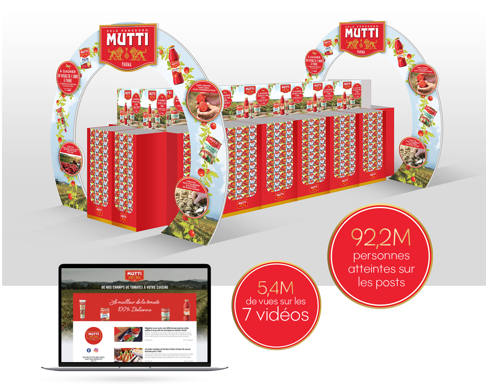 Agence communication Rangoon - promotion des ventes brand content digital social media lancement tomate Mutti