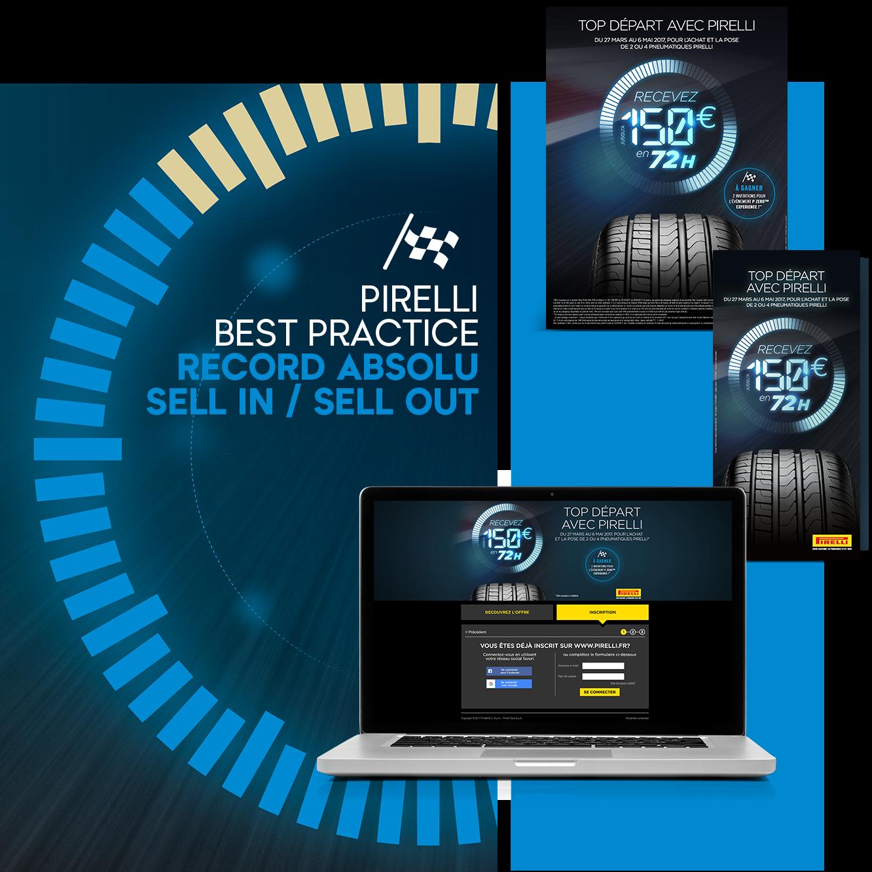 Agence communication Rangoon - promotion des ventes B2B2C aniamtion reseau CRM PRM Pirelli Offre de Remboursement