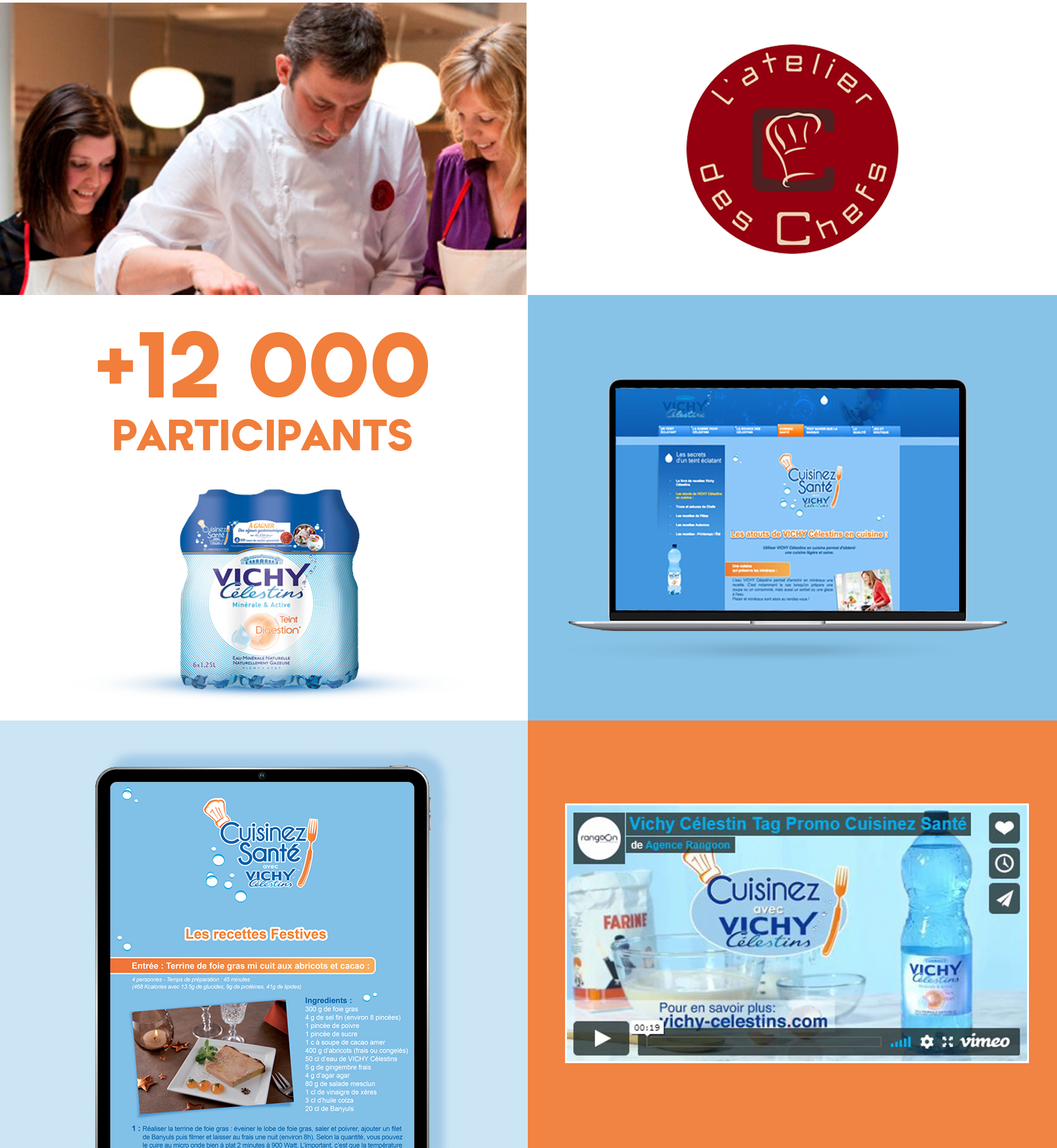 Agence communication Rangoon - promotion des ventes brand content Vichy Celestins