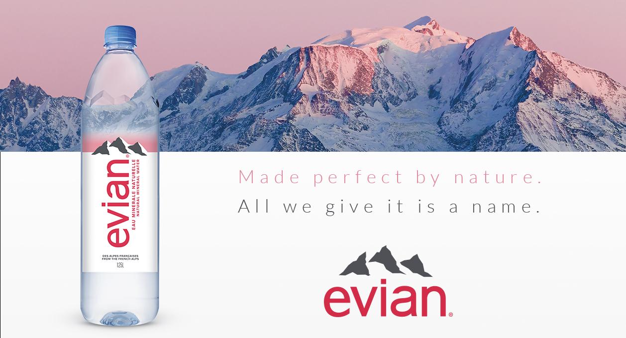 Agence communication Rangoon - charte graphique Evian