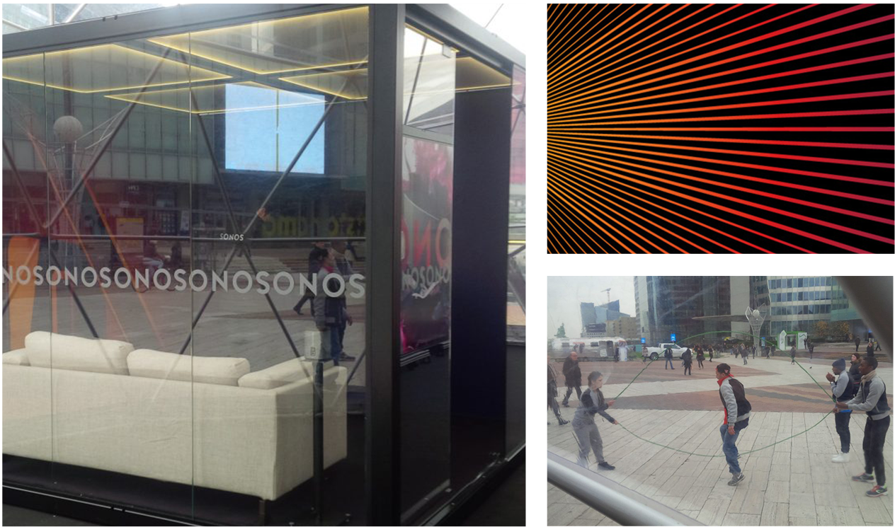 Agence communication Rangoon - evenementiel street marketing Sonos Paris La Défense CNIT