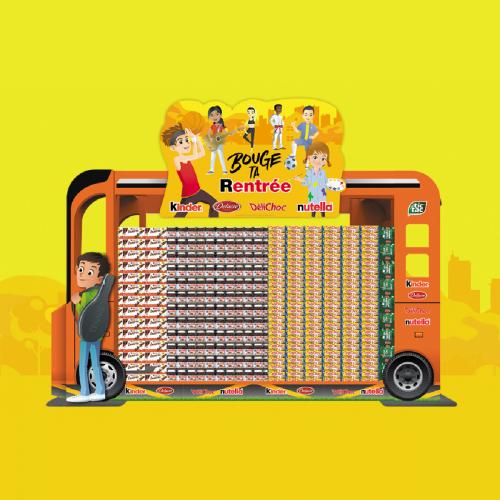Rangoon - agence de communication - Ferrero - Activation in store Back To School