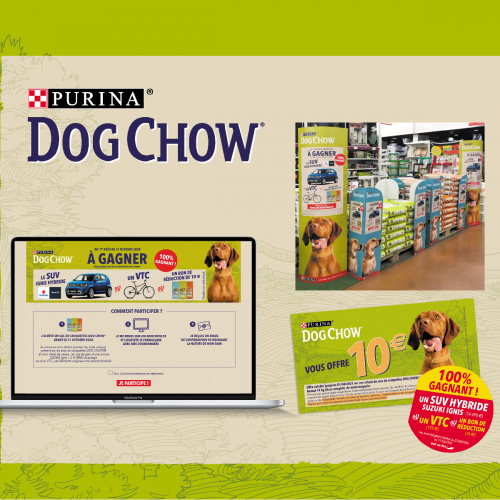 Rangoon - agence de communication - Nestlé Purina Dog Chow activation des ventes